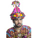 S H A H I T A J Cotton LED Kathiyawadi Navratri or Gujarati Safa Pagdi Turban Multi-Colored for Kids and Adults (RT31)-ST72_20andHalf-sm