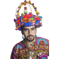 S H A H I T A J Cotton Kathiyawadi Navratri or Gujarati Safa Pagdi Turban Multi-Colored for Kids and Adults (RT34)