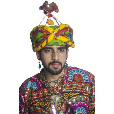 S H A H I T A J Cotton Kathiyawadi Navratri or Gujarati Safa Pagdi Turban Multi-Colored for Kids and Adults (RT35)-18-3