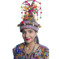 S H A H I T A J Cotton Kathiyawadi Navratri or Gujarati Safa Pagdi Turban Multi-Colored for Kids and Adults (RT36)