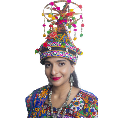 S H A H I T A J Cotton Kathiyawadi Navratri or Gujarati Safa Pagdi Turban Multi-Colored for Kids and Adults (RT36)-ST77_23