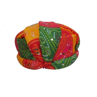 S H A H I T A J Traditional Rajasthani Jaipuri Multi-Colored Adjustable Gol Holi Pagdi Safa or Turban for Kids and Adults (RT419)-18-3