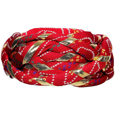 S H A H I T A J Traditional Rajasthani Synthetic Adjustable Vantma or Barmeri Holi Pagdi Safa or Turban Multi-Colored for Kids and Adults (RT03)-ST81_19andHalf