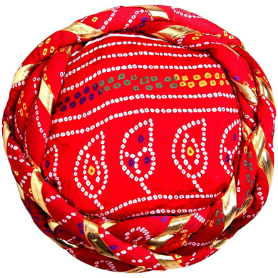S H A H I T A J Traditional Rajasthani Synthetic Adjustable Vantma or Barmeri Holi Pagdi Safa or Turban Multi-Colored for Kids and Adults (RT03)-18-3