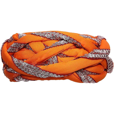 S H A H I T A J Traditional Rajasthani Faux Silk Adjustable Vantma or Barmeri Pagdi Safa or Turban Multi-Colored for Kids and Adults (RT07)-ST85_21andHalf
