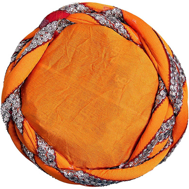 S H A H I T A J Traditional Rajasthani Faux Silk Adjustable Vantma or Barmeri Pagdi Safa or Turban Multi-Colored for Kids and Adults (RT07)-18-3