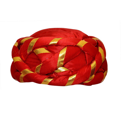 S H A H I T A J Traditional Rajasthani Faux Silk Adjustable Vantma or Barmeri Pagdi Safa or Turban Multi-Colored for Kids and Adults (RT08)-ST86_21