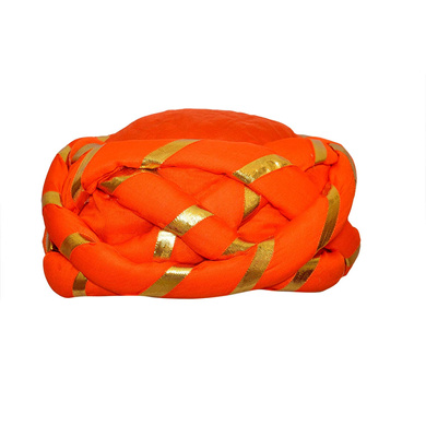 S H A H I T A J Traditional Rajasthani Faux Silk Adjustable Vantma or Barmeri Pagdi Safa or Turban Multi-Colored for Kids and Adults (RT09)-ST87_18