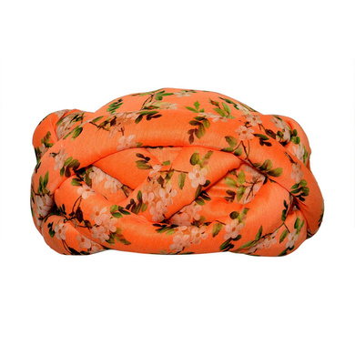 S H A H I T A J Traditional Rajasthani Faux Silk Floral Adjustable Vantma or Barmeri Pagdi Safa or Turban Multi-Colored for Kids and Adults (RT12)-ST90_23