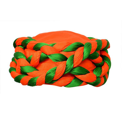 S H A H I T A J Traditional Rajasthani Faux Silk Adjustable Vantma or Barmeri Pagdi Safa or Turban Multi-Colored for Kids and Adults (RT15)-ST93_21