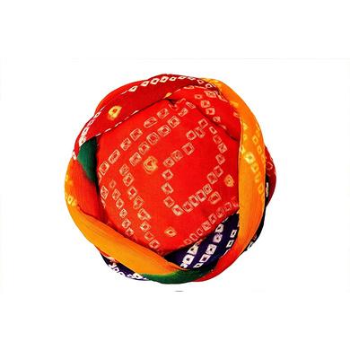 S H A H I T A J Traditional Rajasthani Cotton Bandhej Adjustable Vantma or Barmeri Holi Pagdi Safa or Turban Multi-Colored for Kids and Adults (RT16)-18-4