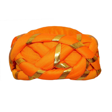 S H A H I T A J Traditional Rajasthani Faux Silk Adjustable Vantma or Barmeri Pagdi Safa or Turban Multi-Colored for Kids and Adults (RT17)-ST95_22