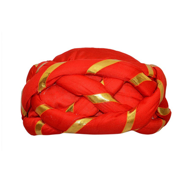S H A H I T A J Traditional Rajasthani Faux Silk Adjustable Vantma or Barmeri Pagdi Safa or Turban Multi-Colored for Kids and Adults (RT18)-ST96_21