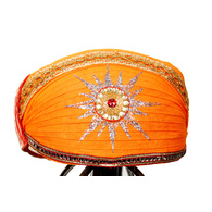 S H A H I T A J Traditional Rajasthani Cotton Mewadi Pagdi or Turban Multi-Colored for Kids and Adults (MT24)