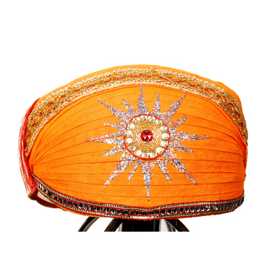 S H A H I T A J Traditional Rajasthani Cotton Mewadi Pagdi or Turban Multi-Colored for Kids and Adults (MT24)-ST102_21andHalf