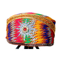 S H A H I T A J Traditional Rajasthani Cotton Mewadi Pagdi or Turban Multi-Colored for Kids and Adults (MT27)