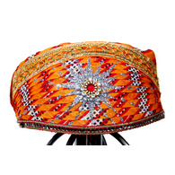 S H A H I T A J Traditional Rajasthani Cotton Mewadi Pagdi or Turban Multi-Colored for Kids and Adults (MT28)