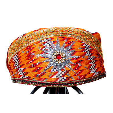 S H A H I T A J Traditional Rajasthani Cotton Mewadi Pagdi or Turban Multi-Colored for Kids and Adults (MT28)-ST106_20andHalf