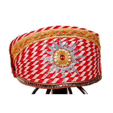 S H A H I T A J Traditional Rajasthani Cotton Mewadi Pagdi or Turban Multi-Colored for Kids and Adults (MT29)-ST107_23andHalf