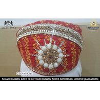 S H A H I T A J Traditional Rajasthani Cotton Mewadi Pagdi or Turban Multi-Colored for Kids and Adults (MT30)
