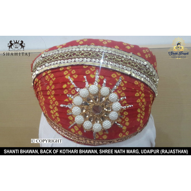 S H A H I T A J Traditional Rajasthani Cotton Mewadi Pagdi or Turban Multi-Colored for Kids and Adults (MT30)-ST108_22andHalf