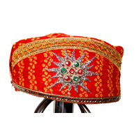 S H A H I T A J Traditional Rajasthani Cotton Mewadi Pagdi or Turban Multi-Colored for Kids and Adults (MT31)