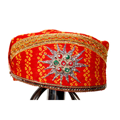 S H A H I T A J Traditional Rajasthani Cotton Mewadi Pagdi or Turban Multi-Colored for Kids and Adults (MT31)-ST109_21andHalf