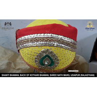 S H A H I T A J Traditional Rajasthani Cotton Mewadi Pagdi or Turban Multi-Colored for Kids and Adults (MT34)