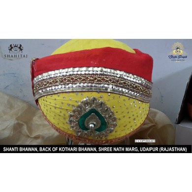 S H A H I T A J Traditional Rajasthani Cotton Mewadi Pagdi or Turban Multi-Colored for Kids and Adults (MT34)-ST112_23andHalf