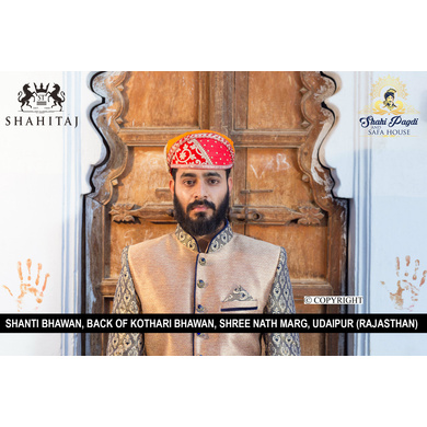 S H A H I T A J Traditional Rajasthani Cotton Mewadi Barati Pagdi or Turban Multi-Colored for Kids and Adults (MT39)-ST117_22andHalf