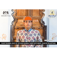 S H A H I T A J Traditional Rajasthani Cotton Mewadi Barati Pagdi or Turban Multi-Colored for Kids and Adults (MT42)