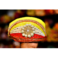 S H A H I T A J Traditional Rajasthani Cotton Mewadi Pagdi or Turban Multi-Colored for Kids and Adults (MT45)