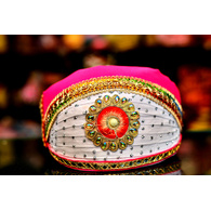 S H A H I T A J Traditional Rajasthani Cotton Mewadi Pagdi or Turban Multi-Colored for Kids and Adults (MT47)