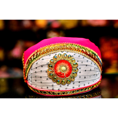 S H A H I T A J Traditional Rajasthani Cotton Mewadi Pagdi or Turban Multi-Colored for Kids and Adults (MT47)-ST125_22andHalf