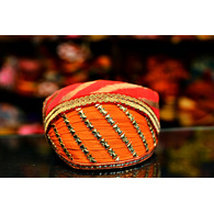 S H A H I T A J Traditional Rajasthani Cotton Mewadi Barati Pagdi or Turban Multi-Colored for Kids and Adults (MT50)