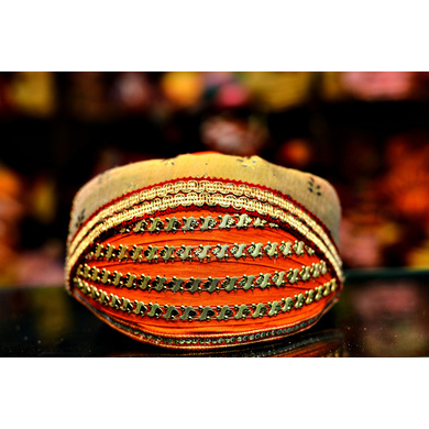 S H A H I T A J Traditional Rajasthani Cotton Mewadi Barati Pagdi or Turban Multi-Colored for Kids and Adults (MT51)-ST129_21andHalf