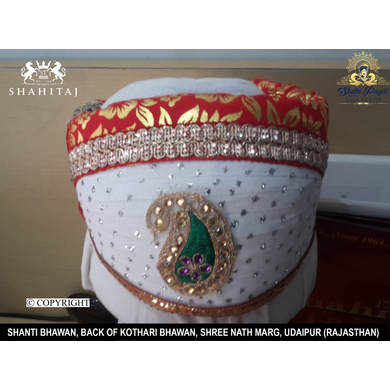 S H A H I T A J Traditional Rajasthani Cotton Mewadi Pagdi or Turban Multi-Colored for Kids and Adults (MT54)-ST133_19andHalf
