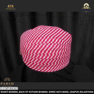S H A H I T A J Traditional Rajasthani Cotton Mewadi Pagdi or Turban Multi-Colored for Kids and Adults (MT56)-ST135_21andHalf