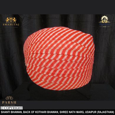 S H A H I T A J Traditional Rajasthani Cotton Mewadi Pagdi or Turban Multi-Colored for Kids and Adults (MT57)-ST136_23andHalf