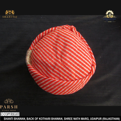 S H A H I T A J Traditional Rajasthani Cotton Mewadi Pagdi or Turban Multi-Colored for Kids and Adults (MT57)-18-3