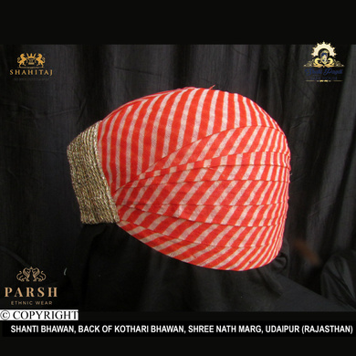 S H A H I T A J Traditional Rajasthani Cotton Mewadi Pagdi or Turban Multi-Colored for Kids and Adults (MT57)-18-4