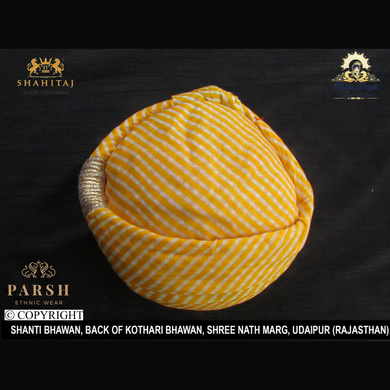 S H A H I T A J Traditional Rajasthani Cotton Mewadi Pagdi or Turban Multi-Colored for Kids and Adults (MT58)-18-3