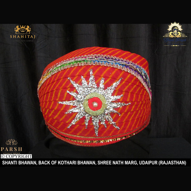 S H A H I T A J Traditional Rajasthani Cotton Mewadi Pagdi or Turban Multi-Colored for Kids and Adults (MT63)-ST142_19andHalf