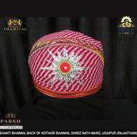 S H A H I T A J Traditional Rajasthani Cotton Mewadi Pagdi or Turban Multi-Colored for Kids and Adults (MT66)