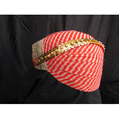 S H A H I T A J Traditional Rajasthani Cotton Mewadi Pagdi or Turban with Pachewadi Multi-Colored for Kids and Adults (MT70)-18-4