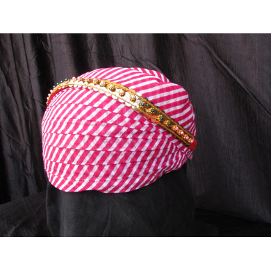 S H A H I T A J Traditional Rajasthani Cotton Mewadi Pagdi or Turban with Pachewadi Multi-Colored for Kids and Adults (MT74)-18-3