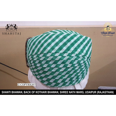 S H A H I T A J Traditional Rajasthani Cotton Mewadi Pagdi or Turban Multi-Colored for Kids and Adults (MT82)-ST160_19andHalf