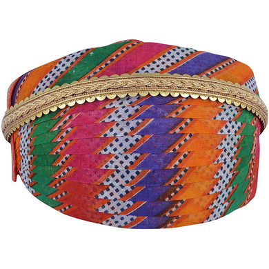 S H A H I T A J Traditional Rajasthani Cotton Mewadi Mothda Pagdi or Turban with Pachewadi Multi-Colored for Kids and Adults (MT84)-ST162_21andHalf