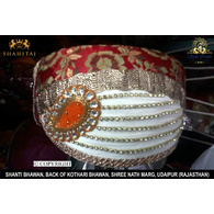 S H A H I T A J Traditional Rajasthani Cotton Mewadi Pagdi or Turban Multi-Colored for Kids and Adults (MT90)