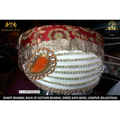 S H A H I T A J Traditional Rajasthani Cotton Mewadi Pagdi or Turban Multi-Colored for Kids and Adults (MT90)-ST168_22